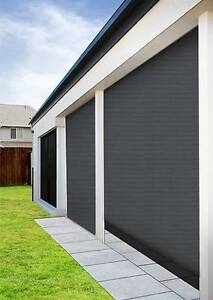 Outdoor Charcoal Sunscreen Roller Blind Ingleburn Campbelltown Area Preview