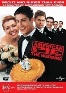 AMERICAN PIE-THE WEDDING DVD=EXTENDED VERSION=REGION 4 AUSTRALIAN=NEW AND SEALED