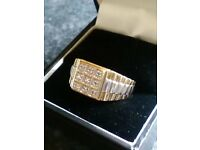 Gold & Diamond Mans Ring