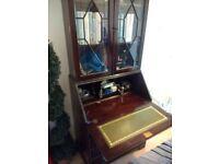 Bureau with bookcase