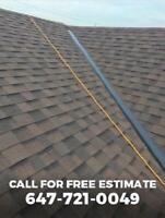 Roofing repair, new installation, shingles - 647-721-0049
