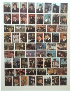 VINTAGE 1964 TOPPS BEATLES COLOR SERIES TRADING CARDS 64 SET