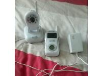 Baby monitor with video temp and sound