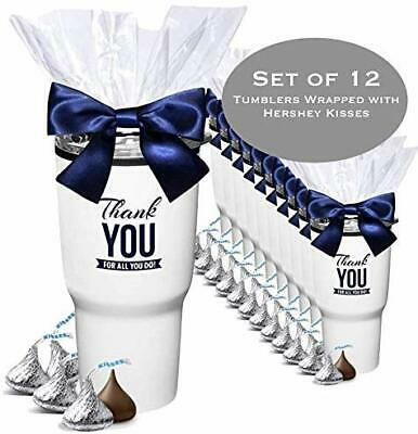 Employee Appreciation Gifts (12 Piece Set -Hershey Kisses Gift Tumblers/Holiday Employee Appreciation)