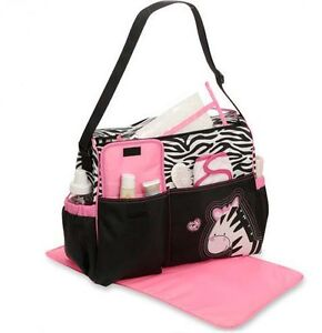 *NEW* Fashion & Cute Zebra Tote Diaper Nappy Bag