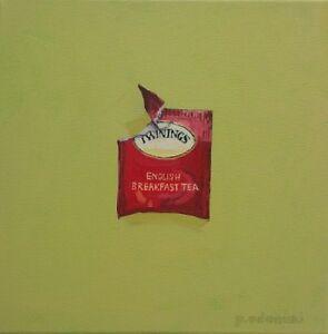 """Paintings: """"Afternoon Tea"""" series by Paula Adamski  $50 each"""