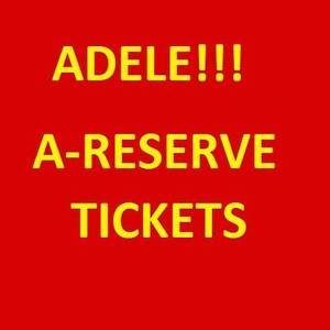 1-4 ADELE PERTH CONCERT TICKETS COST PRICE A-RESERVE TICKETS Leederville Vincent Area Preview