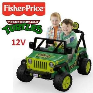 NEW POWER WHEELS 12V TMNT JEEP DRH62 248446608 FISHER PRICE TEENAGE MUTANT NINJA TURTLES WRANGLER KIDS TOY RIDE ON