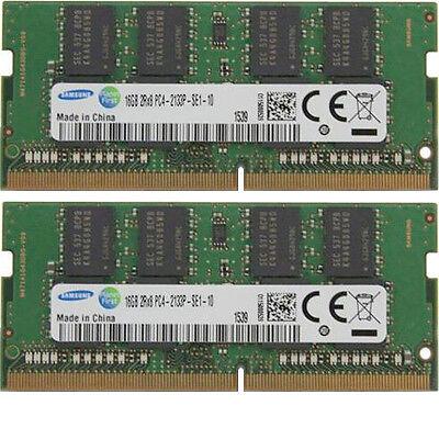 2x 16GB Kit 32GB MEMORY RAM DDR4 2133Mhz Samsung SODIMM PC4-17000 Skylake Laptop