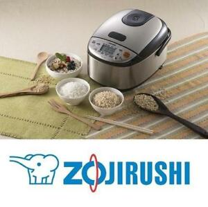 OB ZOJIRUSHI RICE COOKER AND WARMER NS-LGC05 188006271 UP TO 3 CUPS STAINLESS BLACK OPEN BOX