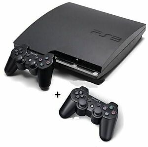 Sony PS3 Slim 250 Gig HDD, 2 Controllers and Games