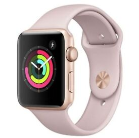 Apple Watch Series 3 Rose gold sand 38mm face