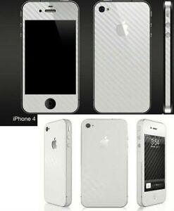 iphone 4S Carbon Fibre Full Case Bumper Skin + IN STOCK 6 COLOURS ++
