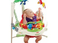 ALMOST NEW: Fisher-Price Rainforest Jumperoo - RRP £119