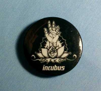 "INCUBUS FLOWER IN HAND B&W BLACK WHITE 1"" Band MUSIC PIN BUTTON PINBACK"