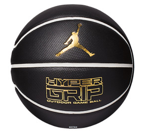 Nike Jordan Hyper Grip Basketball, black, gold