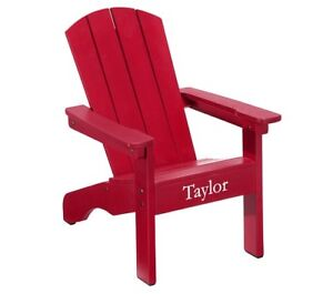 In excellent condition red pottery barn Adirondack chair for kid