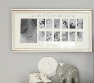 Pottery Barn Silver Leaf First Year frame