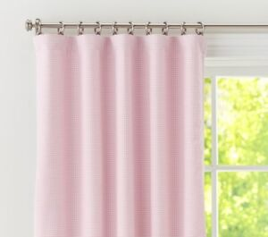 Pottery Barn Kids Pink Gingham Blackout Curains