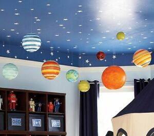 Pottery Barn Space Theme includes Jumbo Hanging Planets, ..