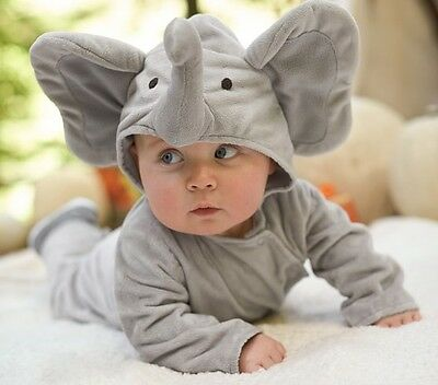 NWT/NEW POTTERY BARN KIDS BABY INFANT ELEPHANT HALLOWEEN COSTUME 12-18 MONTHS](Elephant Costume Kids)
