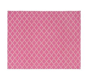 Pottery Barn Girls' 8 x 10 Hot Pink Addison Rug