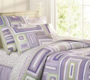 Pottery Barn Kids Katie Patchwork quilt and 2 shams