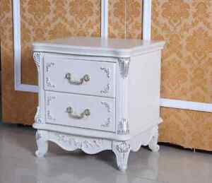 Devonport Oak French Provincial  shabby chic bedside table