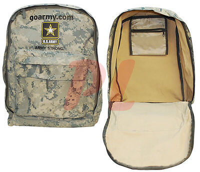 "Go Army Strong BACKPACK Camping Hiking Trekking School 17""x12""x 6"" - ACU Digital"