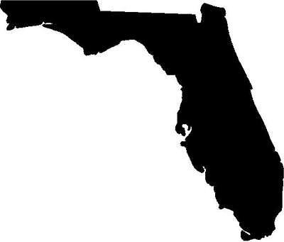 Florida state vinyl decal/sticker silhouette beach sand vacation spring break