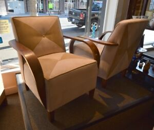 HANDSOME HIGH QUALITY SUEDE LEATHER CHAIR AT CHARMAINE'S
