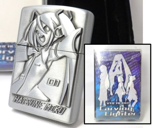 VOCALOID Hatsune Miku Amusement Prize Oil Lighter Unfired Rare         090208c91