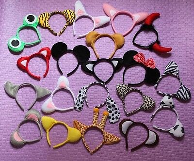 Lot 20PCS Cute Animal Ears Headband Kids Party Costume Cosplay Accessory B095