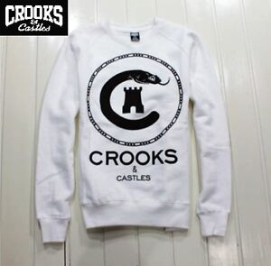 Crooks and Castles Crewneck Sweater / Jumper / Sweatshirt - Brand New - Rrp $99.