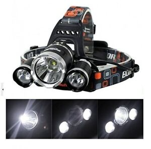 3000Lm 3 CREE T6 Super Bright LED Water Resistant Headlamp