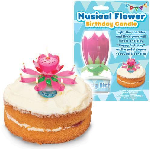 Musical Flower Candle