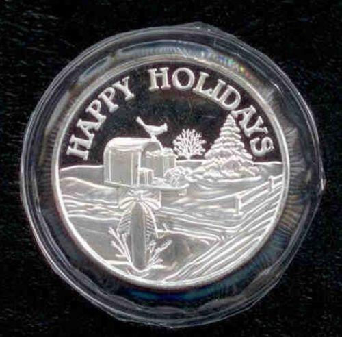 Christmas Silver Rounds Ebay