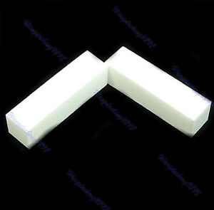 2-X-White-Nail-Art-Buffer-Buffing-Sanding-Files-Block