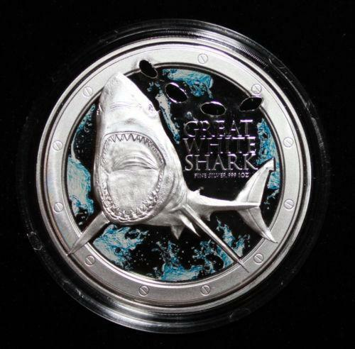 Great White Shark Coin Ebay