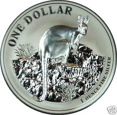 1 AU Dollar Silber Känguru 2010 Kangaroo 1 OZ Silver ()