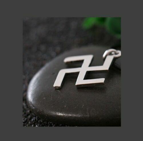 Tibetan Religious Svastika Buddhism Stainless Steel Pendant Necklace Lucky Charm