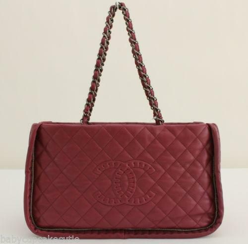 chanel burgundy bag ebay