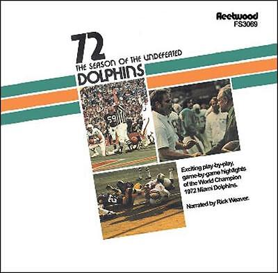 1972 Miami Dolphins 17-0 The Season of the Undefeated Dolphins CD