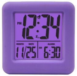 Equity by La Crosse 70904 Soft Purple Cube LCD Alarm Clock , New, Free Shipping