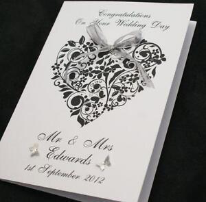 Personalised wedding cards ebay personalised congratulations wedding card stopboris Image collections