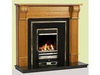 Solid Oak Dublin corbel fireplace