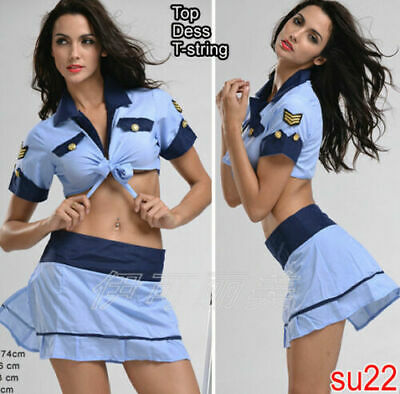 Sexy Naughty Female Navy Uniform Police Cosplay Lingerie Dress Costume 8 12