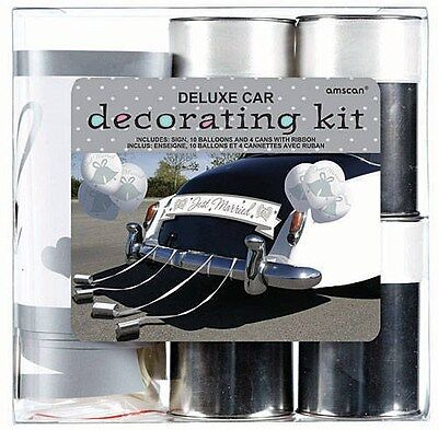 Just Married Car Decorating Kit, Wedding, Honeymoon Decorations - Just Married Car Decorating Kit