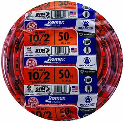 Southwire 28829022 50 102 Wground Romex Brand Simpull Indoor Electrical Wire