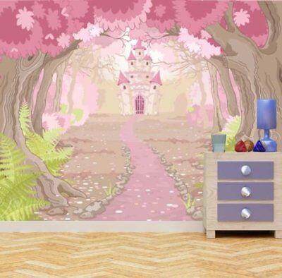 Fantasy Magic Fairy Tale Princess Castle Grls Bedrom Wall Mural Photo (Fairy Tale Princess Photo)